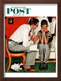 """Facts of Life"" Saturday Evening Post Cover, July 14,1951 Framed Giclee Print by Norman Rockwell"