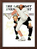 """100th Anniversary of Baseball"" Saturday Evening Post Cover, July 8,1939 Framed Giclee Print by Norman Rockwell"