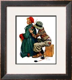 """Young Artist"" or ""She's My Baby"", June 4,1927 Framed Giclee Print by Norman Rockwell"
