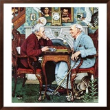 """April Fool, 1943"", April 3,1943 Framed Giclee Print by Norman Rockwell"