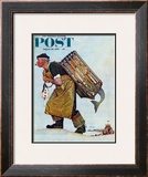 """Mermaid"" or ""Lobsterman"" Saturday Evening Post Cover, August 20,1955 Framed Giclee Print by Norman Rockwell"