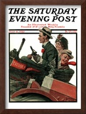 """Excuse My Dust"" Saturday Evening Post Cover, July 31,1920 Framed Giclee Print by Norman Rockwell"