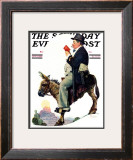 """Prospector"" Saturday Evening Post Cover, July 13,1929 Framed Giclee Print by Norman Rockwell"