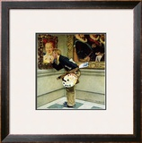 """""""Art Critic"""", April 16,1955 Framed Giclee Print by Norman Rockwell"""