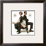 """Election Debate"", October 9,1920 Framed Giclee Print by Norman Rockwell"