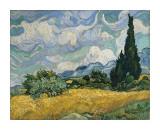 Champ de blé avec cyprès, vers 1889 Impression giclée par Vincent van Gogh