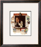 """""""Ticket Agent"""", April 24,1937 Framed Giclee Print by Norman Rockwell"""