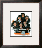 """""""Charlie Chaplin Fans"""", October 14,1916 Framed Giclee Print by Norman Rockwell"""