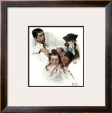 """First Haircut"", August 10,1918 Framed Giclee Print by Norman Rockwell"