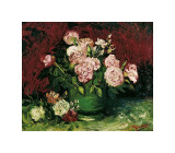 Roses and Peonies, c.1886 Giclee Print by Vincent van Gogh