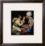 """""""Willie's Rope Trick"""", June 26,1943 Framed Giclee Print by Norman Rockwell"""