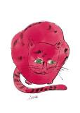 Rode Sam, ca.1954, portret van kat Gicléedruk van Andy Warhol