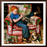 """Trumpeter"", November 18,1950 Framed Giclee Print by Norman Rockwell"