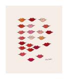 Lèvres Impression giclée par Andy Warhol