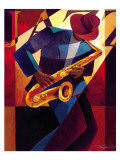 Be-bop Affiches par Keith Mallett