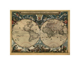World Map, c.1664 Giclee Print