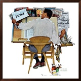 """Artist at Work"", September 16,1961 Framed Giclee Print by Norman Rockwell"