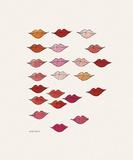 Læber Giclée-tryk af Andy Warhol