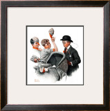 """Baby Carriage"", May 20,1916 Framed Giclee Print by Norman Rockwell"