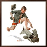 """Runaway Pants"", August 9,1919 Framed Giclee Print by Norman Rockwell"