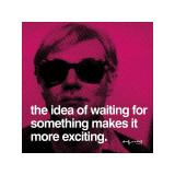 Vänta Gicléetryck av Andy Warhol