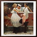 """""""After the Prom"""", May 25,1957 Framed Giclee Print by Norman Rockwell"""