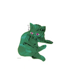 Untitled (Green Cat), c. 1956 Giclée-Druck von Andy Warhol