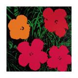 Flowers, 1964 (Red, Pink and Yellow) Lámina giclée por Andy Warhol
