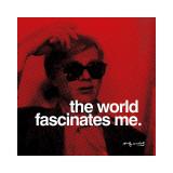 Världen Gicléetryck av Andy Warhol
