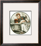 """Mom's Helper"" or ""Peeling Potatoes"", January 29,1921 Framed Giclee Print by Norman Rockwell"