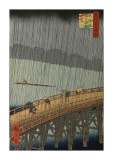 Sudden Shower Gicledruk van Ando Hiroshige