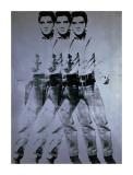 Tredobbel Elvis, 1963 Triple Elvis, 1963 Giclee-trykk av Andy Warhol