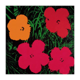 Flowers, 1964 (Red, Pink and Yellow) Gicléedruk van Andy Warhol