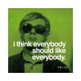 Tout le monde, en anglais Impression giclée par Andy Warhol