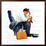 """""""Balancing the Expense Account"""", November 30,1957 Framed Giclee Print by Norman Rockwell"""