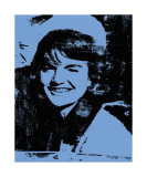 Jackie, 1964 (Blue) Giclee Print by Andy Warhol