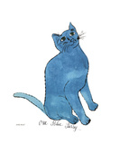 Un petit chat bleu, vers 1954 Reproduction procédé giclée par Andy Warhol