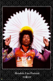 Jimi Hendrix - Fan Portrait Prints