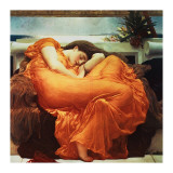 Flaming June Gicleetryck av Frederick Leighton