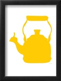 Yellow Tea Kettle Framed Giclee Print by  Avalisa