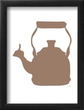 Brown Tea Kettle Framed Giclee Print by  Avalisa