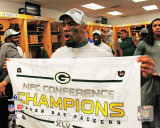 Charles Woodson 2010 NFC Championship Game Locker Room Celebration Photo