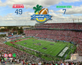 Alabama Crimson Tide Capitol One Bowl Champions with Overlay Photo