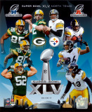 Super Bowl 45 Match-Up Composite Green Bay Packers Vs. Pittsburgh Steelers Photo