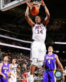 Derrick Favors 2010-11 Action Photo