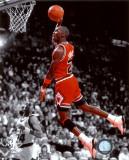 Michael Jordan en pleine action, 1990 Photographie