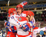 Alex Ovechkin, Nicklas Backstrom, & Mike Knuble Celebrate 2011 NHL Winter Classic Photo