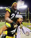 Ryan Clark & Troy Polamalu 2010 AFC Championship Game Celebration Photo