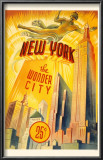 New York The Wonder City Posters
