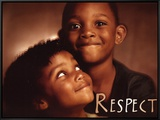 Respect Framed Canvas Print